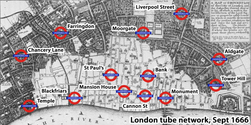 Great Fire tube map.