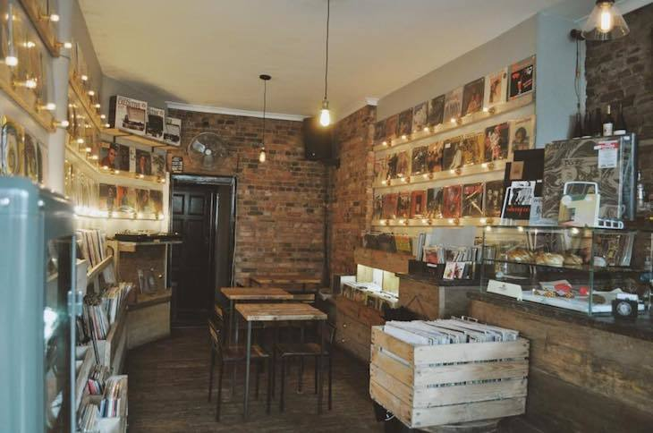 Lion Coffee + Records, record and coffee shop all rolled into one in London
