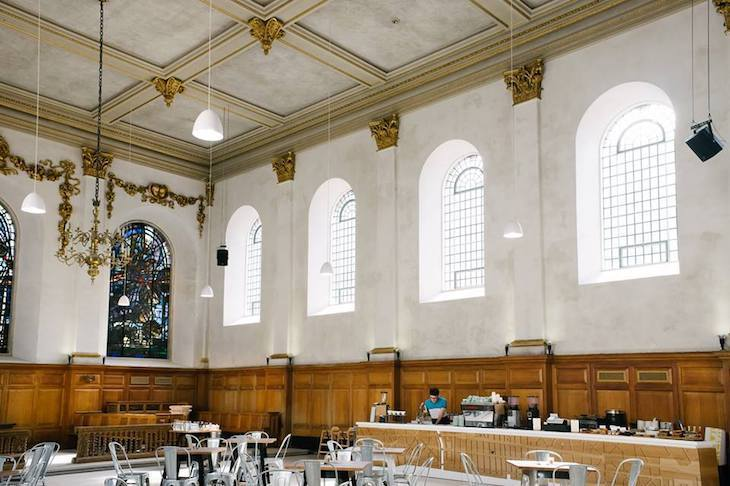 The Wren Coffee, one of London's best coffee shops and set in a church!
