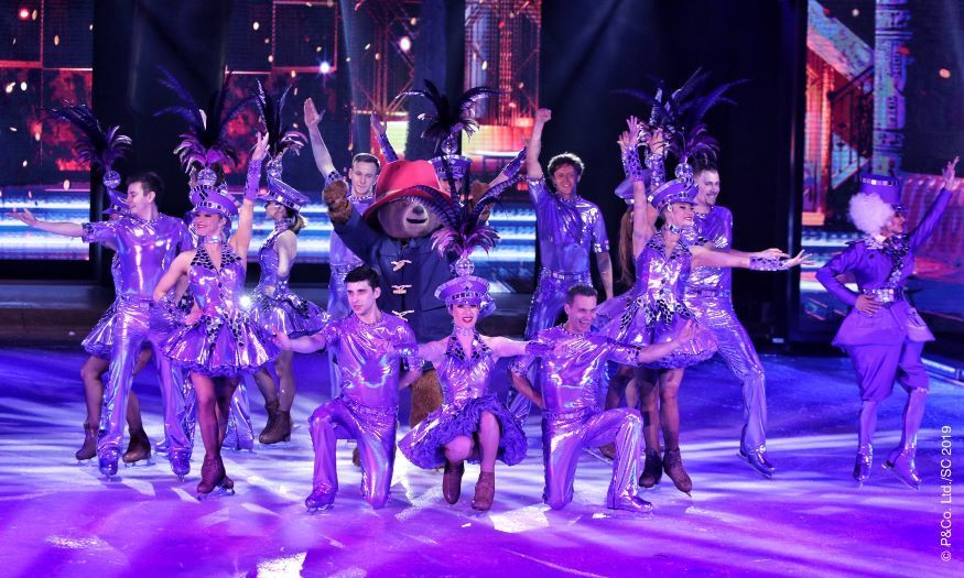 Christmas On Ice.London S Best Loved Bear Glides Into Winter Wonderland For