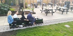 We Took A Ride On This Miniature Railway In An East London Beer Garden