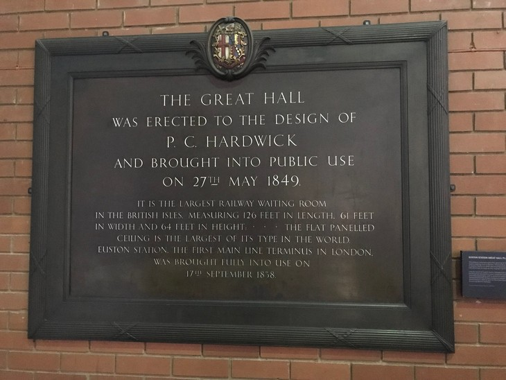 Plaque from Euston station