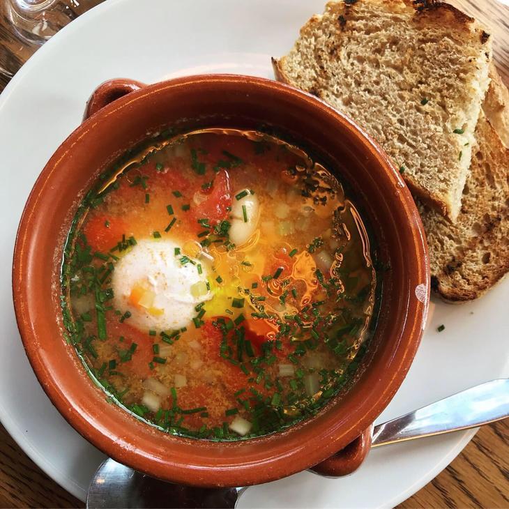 A bowl of Italian soup at Maremma