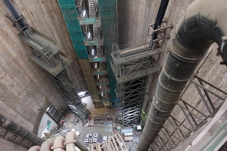 Peering into a shaft in Battersea built for Tideway