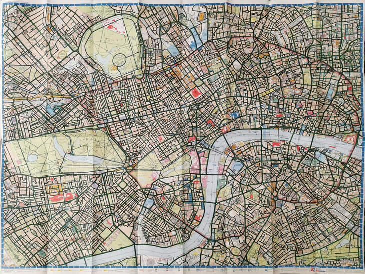 Central London Street Map.This Man Cycled Every Street In Central London Ticking Them