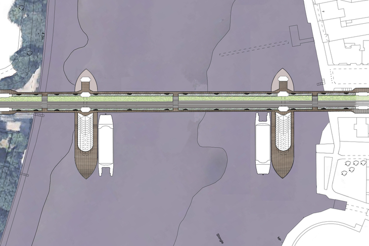 Plans for a pedestrianised Hammersmith Bridge