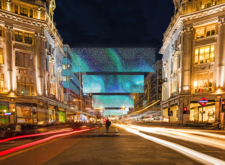 Design of the new Oxford Street Christmas lights 2019