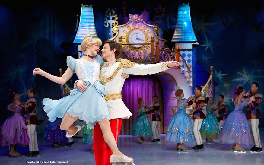 Cinderella and Prince Charming in Disney On Ice family show in London