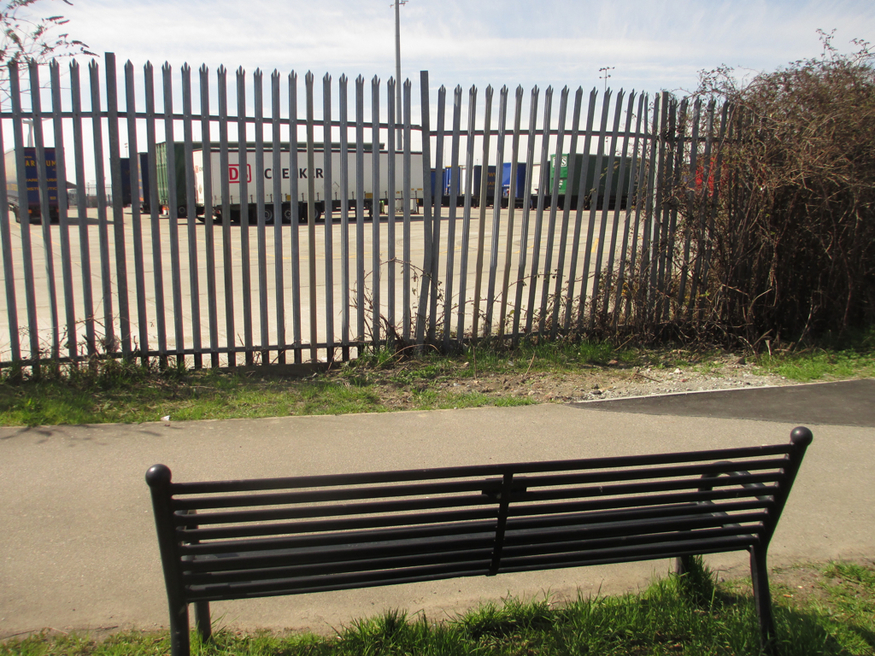 A bench in Tilbury