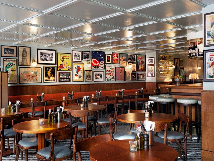 Inside Cecconi's Pizza Bar in Soho
