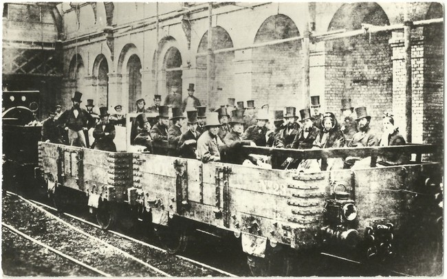 Gladstone in a carriage