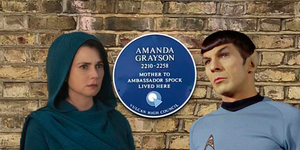 There's A Plaque To Spock's Mother In South London