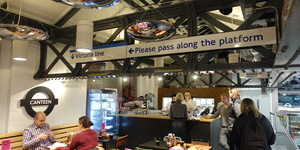Inside The Transport Museum's New Canteen - Built Out Of Leftover Tube Paraphernalia