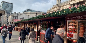Trafalgar Square Holds It First Ever Christmas Market This Year