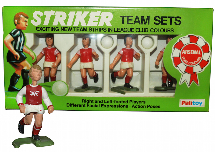 Arsenal figurines, indistinguishable from the real players.