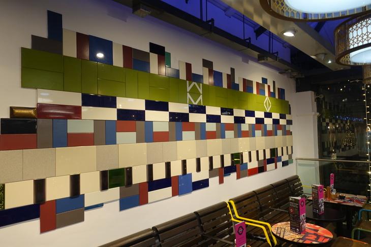 Tiles at London Transport Museum's Canteen
