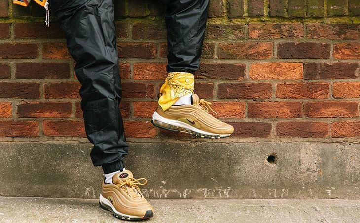 Gold Air Max 97s