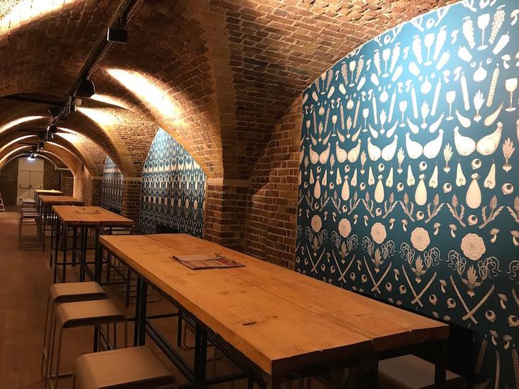Wine cellar at Mercato Mayfair
