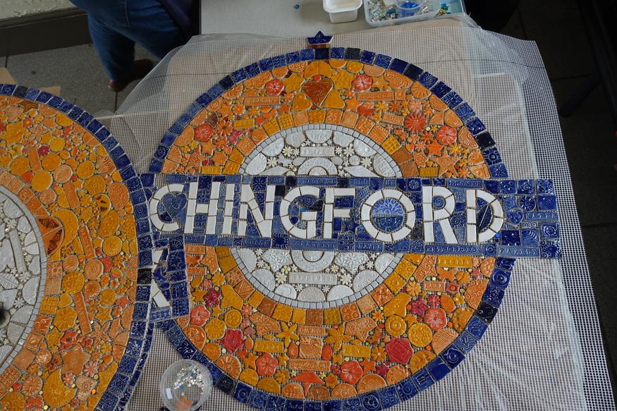 Chingford mosaic roundel