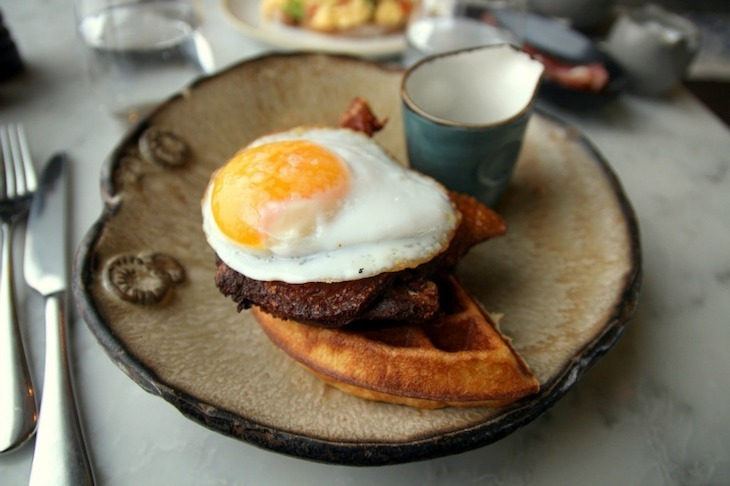 Find one of the best brunches in London at Duck and Waffle