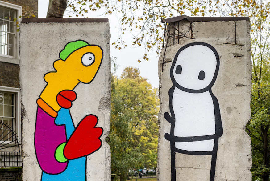 Stik And Thierry Noir Paint The Berlin Wall, At Imperial War Museum