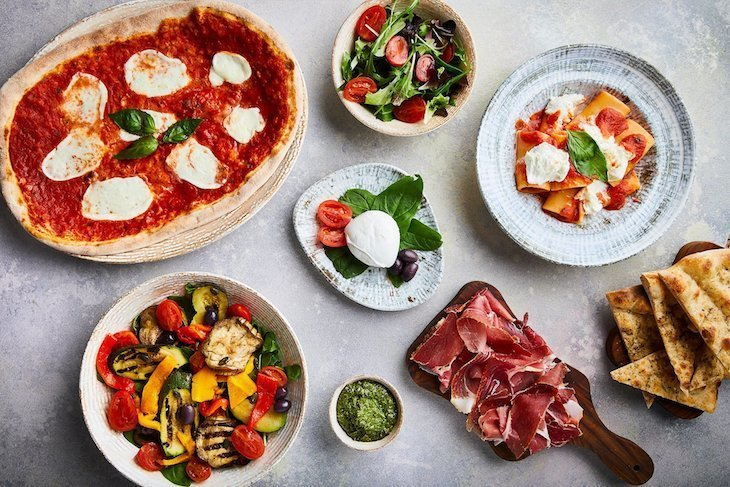 Mozzarella for breakfast, lunch and dinner at Obicà Mozzarella Bar in Canary Wharf