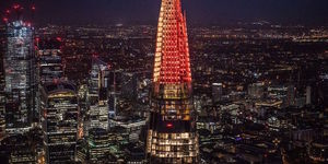 The Shard's Christmas Lights Are Switched On Tonight