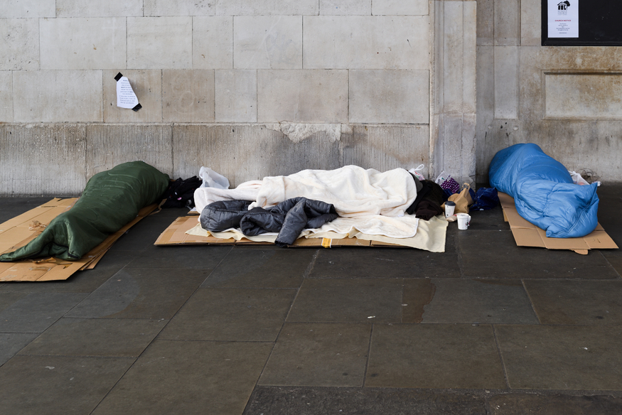 Homeless people in London
