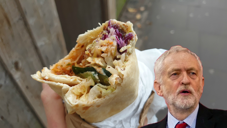 Jeremy Corbyn and Falafel Wrap
