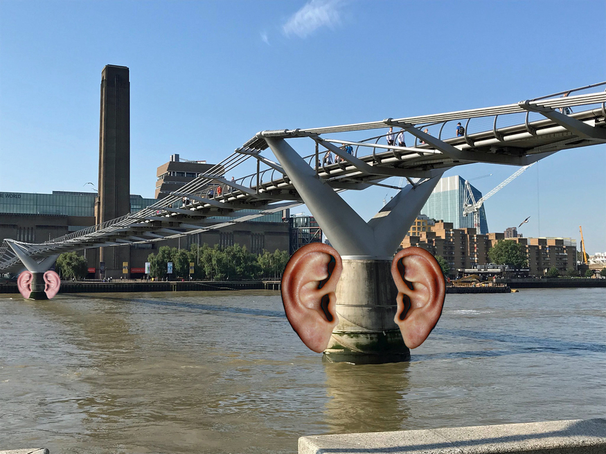 Millennium Bridge with ears for some stupid reason.