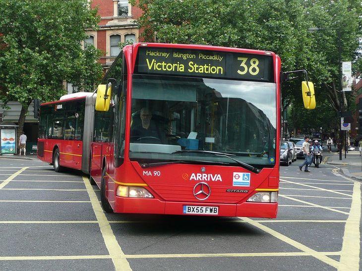 A bendy bus in London