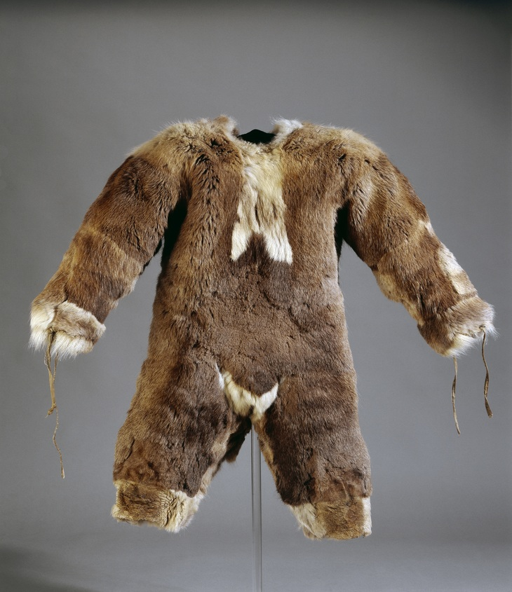 Furry all in one suit made for child at British Museum