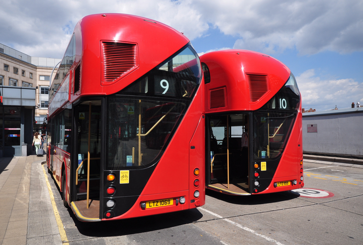 Two New Routemaster buses