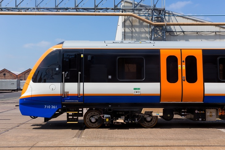 A Class 710 London Overground Train in Derby