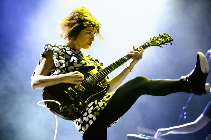 Sleater Kinney's Carrie Brownstein on guitar