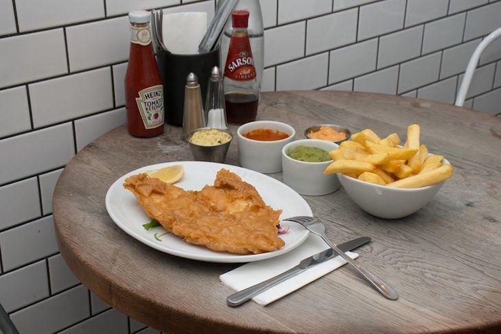 Head to Kerbisher & Malt in Shepherd's Bush for dinnertime fish and chips