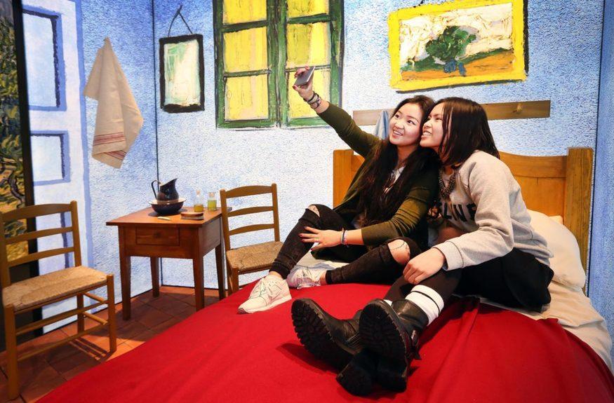 A selfie in Van Gogh's Bedroom in Arles