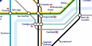 Just A London Underground Map Translated Into Welsh