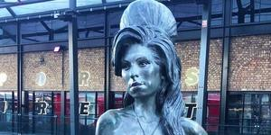 Amy Winehouse's Statue In Camden