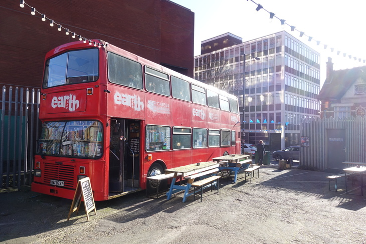 Board game cafe and taproom bus