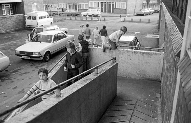 Kids on a ramp