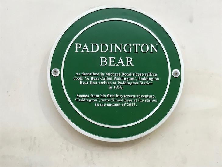 A plaque for Paddington Bear