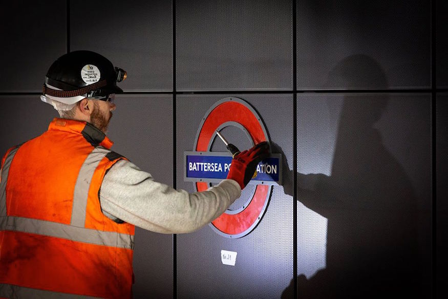 The First Roundels Have Been Installed At New Stations On The Northern Line Extension
