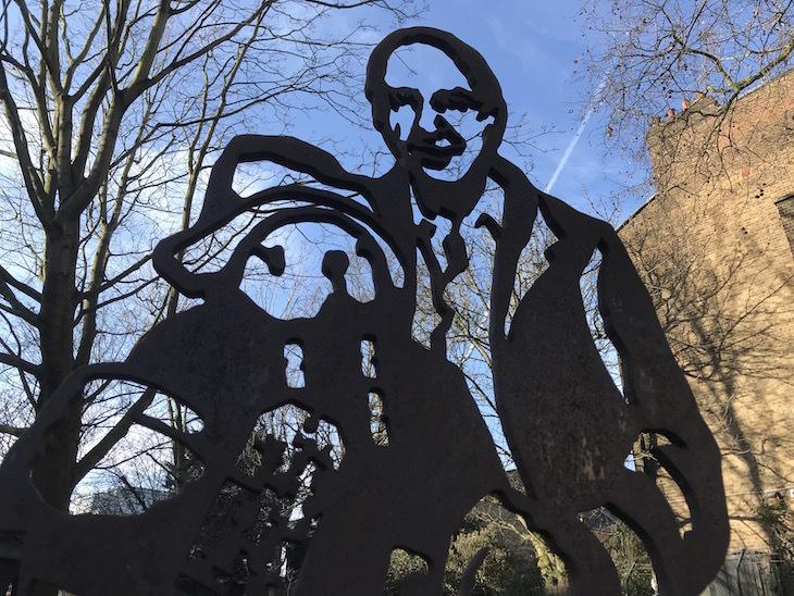 Paddington and Michael Bond statue