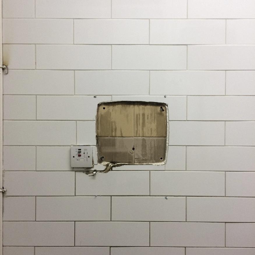 Missing hand dryer indentation
