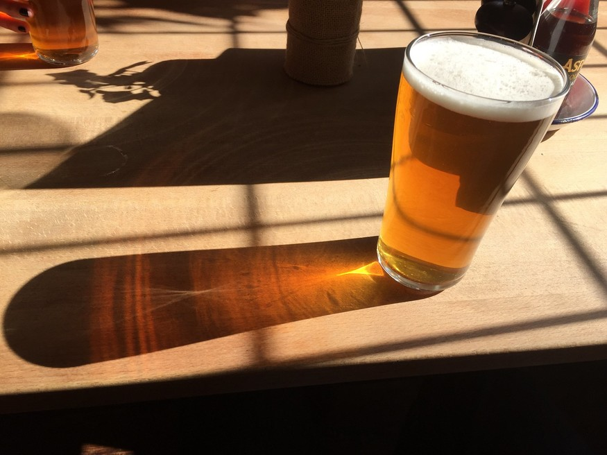 Pint and shadow