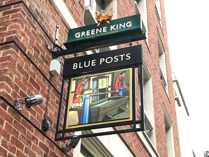 Blue Posts sign