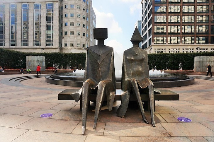 Lynn Chadwick created one of London's best modern art sculptures - Couple On Seat