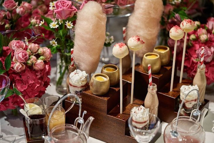 Quirky afternoon tea in London: Charlie and the Chocolate Factory themed