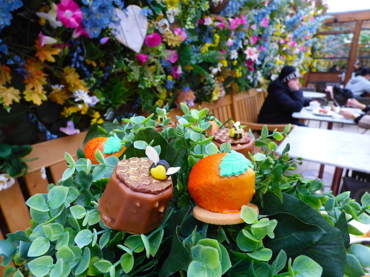 This unusual afternoon tea at Dominique Ansel in London takes on a pretty fruit and veg theme